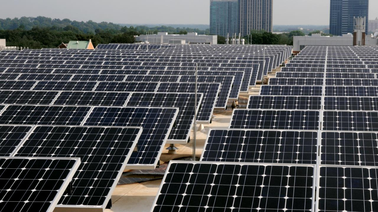 Georgia Tech Clough Commons Roof Solar Panels