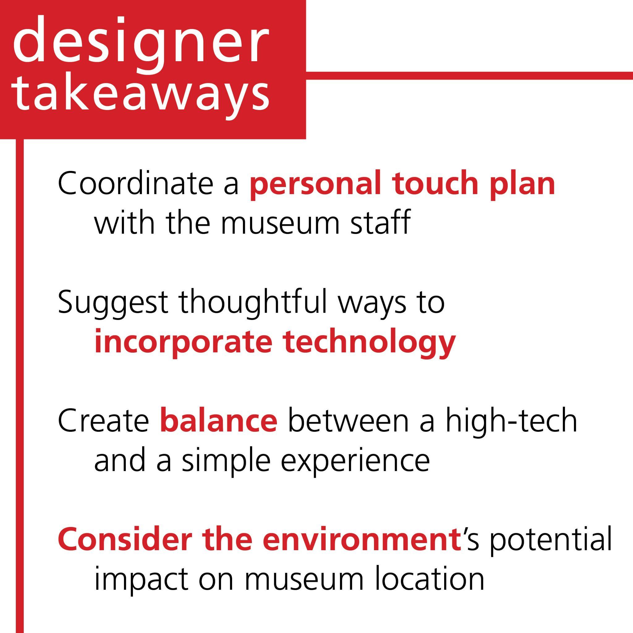 Designer Takeaways