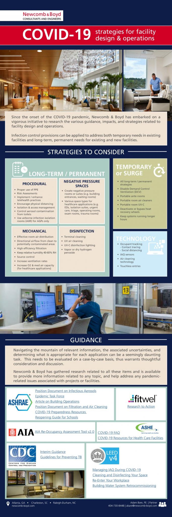 COVID-19_Strategies for Facility Design & Operations_Contact Adam Bare